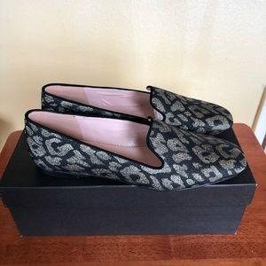 Jcrew metallic flat slip on shoe